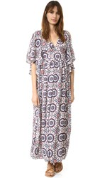 Re Named Mojave Slit Maxi Dress Cream Print