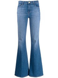 J Brand Faded Flared Jeans Blue