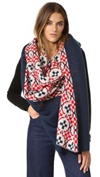 Standard Form Oversized Maja Plaid Scarf Red