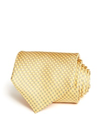 The Men's Store At Bloomingdale's Micro Grid Classic Tie Yellow