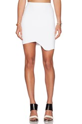 Donna Mizani Cross Over Mini Skirt White