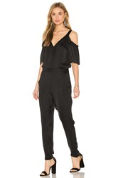 Ella Moss Cold Shoulder Jumpsuit Black