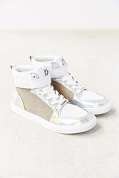 Eleven Paris Holo High Top Sneaker Silver