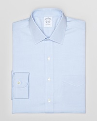Brooks Brothers Solid Pinpoint Dress Shirt