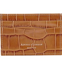 Aspinal Of London Slim Leather Credit Card Case Tan