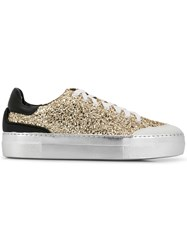 N 21 No21 Lace Up Sneakers Gold