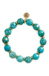Bourbon And Boweties Women's Stone Stretch Bracelet Turquoise