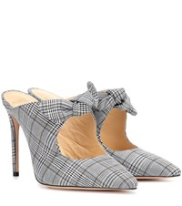 Alexandre Birman Evelyn Checked Mules Grey