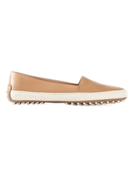 Tod's Leather Espadrilles Nude And Neutrals