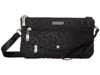 Baggallini Plaza Mini Cheetah Black Cross Body Handbags Multi