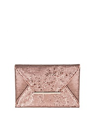 Bcbgmaxazria Sequin Envelope Clutch Pale Nude