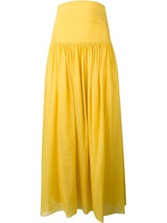 Forte Forte Pleated Maxi Skirt Yellow And Orange