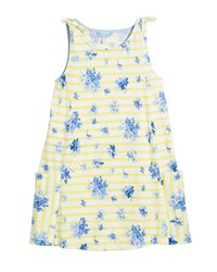 Joules Madeline Stripe And Floral Tie Sleeveless Dress Size 3 10 Multi