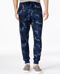 Ring Of Fire Printed Jogger Pants Blue Camo