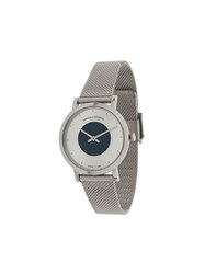 Larsson And Jennings Code Dot Milanese Watch Silver