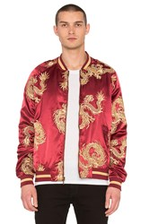 Standard Issue Dragon Bomber Jacket Burgundy