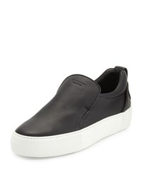 Buscemi 40Mm Men's Leather Slip On Sneaker Black