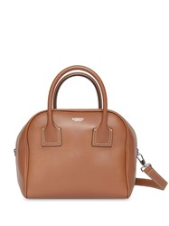 Burberry Small Leather Cube Bag Brown