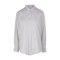 Atlantique Ascoli Recit Shirt Blue Brown Checks