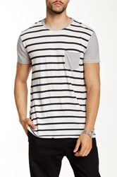 Sol Angeles Duo Striped Pocket Tee Black