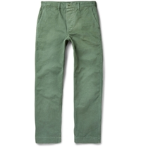 Chimala Garment Dyed Cotton Trousers Green