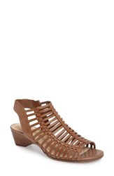 Bella Vita Women's Pacey Cage Sandal Camel Leather