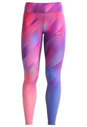 Nike Performance Power Epic Lux Tights Paramount Blue Silver Multicoloured