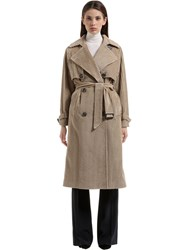 Tagliatore Cotton Corduroy Trench Coat