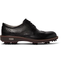 Ecco Golf Classic Lux Panelled Leather Golf Shoes Black