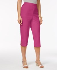 Alfred Dunner Reel It In Pull On Capri Pants Pink