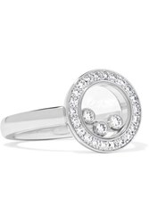Chopard Happy Diamonds 18 Karat White Gold Diamond Ring