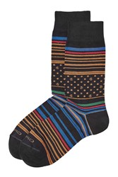 Etro Printed Cotton Socks Multicolor