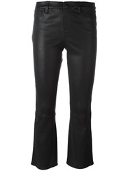 J Brand 'Selena' Cropped Trousers Black