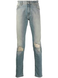 Represent Ripped Detail Jeans Blue