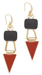 David Aubrey Victoria Earrings Gold Multi
