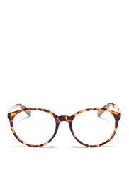Michael Kors 'Mayfair' Metal Temple Tortoiseshell Acetate Optical Glasses Brown Animal Print