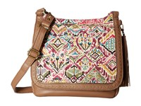 Sakroots Artist Circle Seni Flap Crossbody Berry Brave Beauti Cross Body Handbags Brown