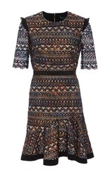 Saloni Juno Butterfly Lace Dress Print
