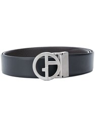 Giorgio Armani Logo Buckle Belt Black