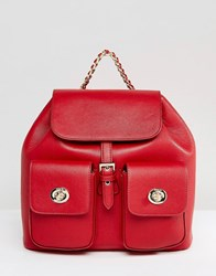 Marc B Red Tassel Backpack Red