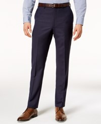 Dkny Men's Slim Fit Stretch Textured Suit Pants Navy