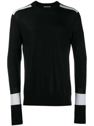 Neil Barrett Contrasting Sleeves Sweater Black