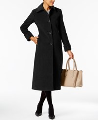 Jones New York Maxi Walker Coat Black