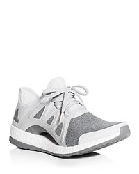 Adidas Women's Pureboost Xpose Lace Up Sneakers Clear Gray Silver