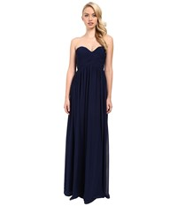 Donna Morgan Laura Long Chiffon Gown Dress Midnight Women's Dress Navy
