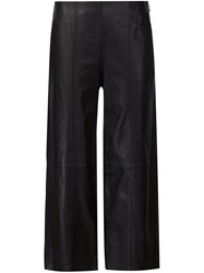 Vince Wide Legged Cropped Trousers Black