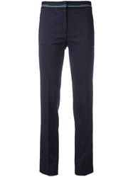 Versace Collection Cropped Pants Blue