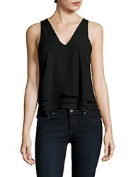 Parker Solid V Neck Tank Top Black
