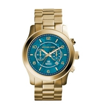 Michael Kors Watch Hunger Stop Oversized Runway Gold Tone Watch