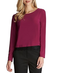 Cece By Cynthia Steffe Long Sleeve Lace Top Magenta